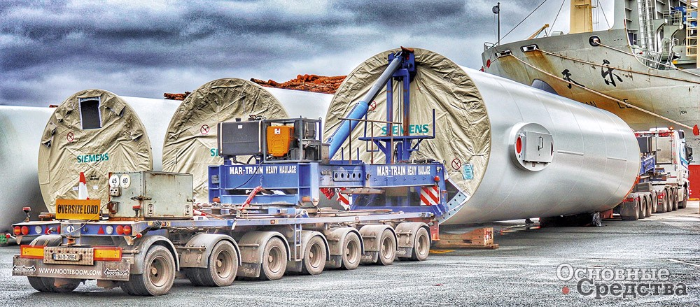 Nooteboom Mega Windmill Transporter 4+7
