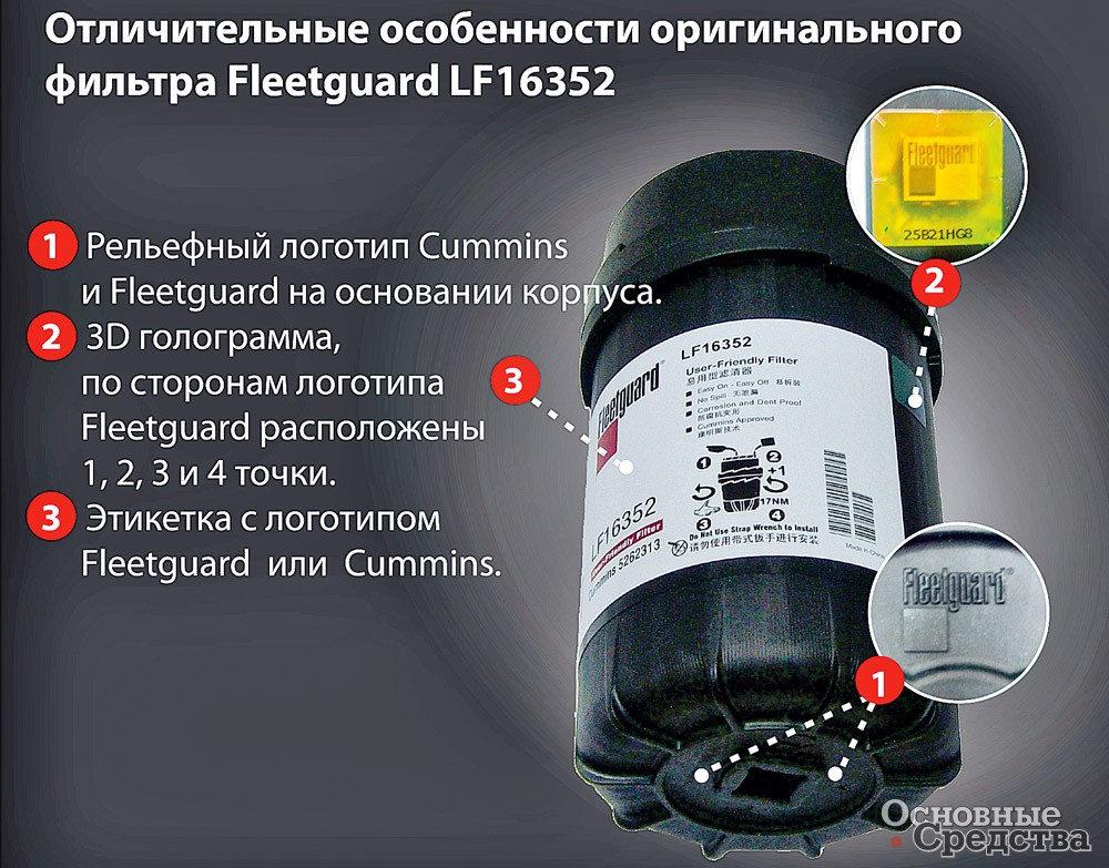 Информация от Cummins Filtration