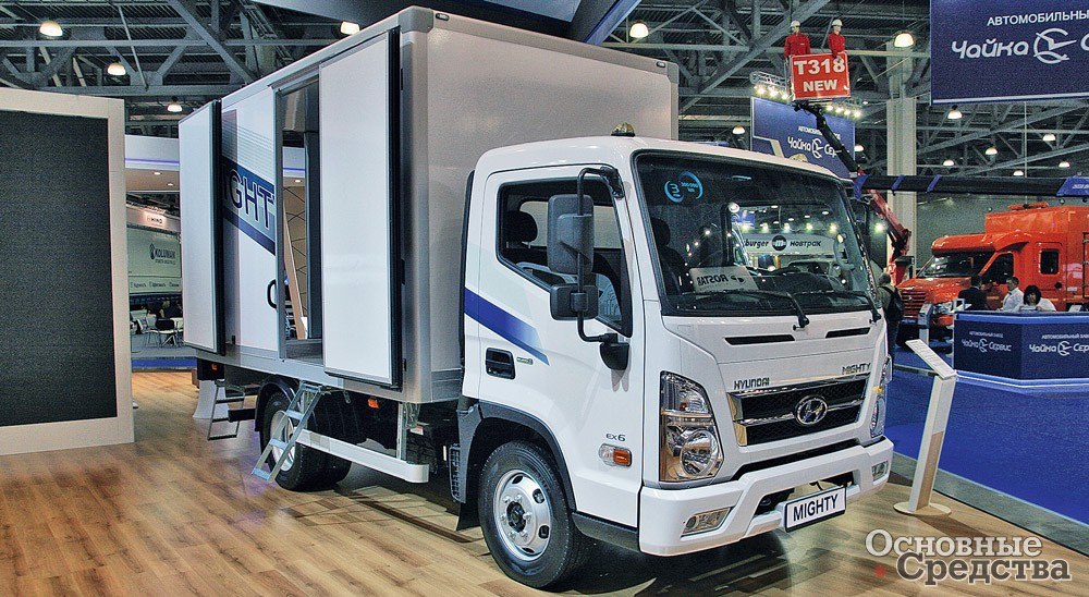 Изотермический фургон «Автомеханического завода» на шасси Hyundai Mighty