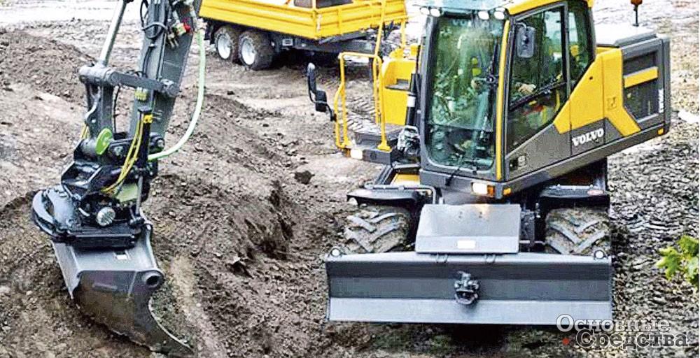 Инженеры Volvo CE базово оснащают экскаваторы ковшами GP. В ковшах установлены зубья с VTS-коронками, предназначенными для работы на грунтах малой и средней плотности