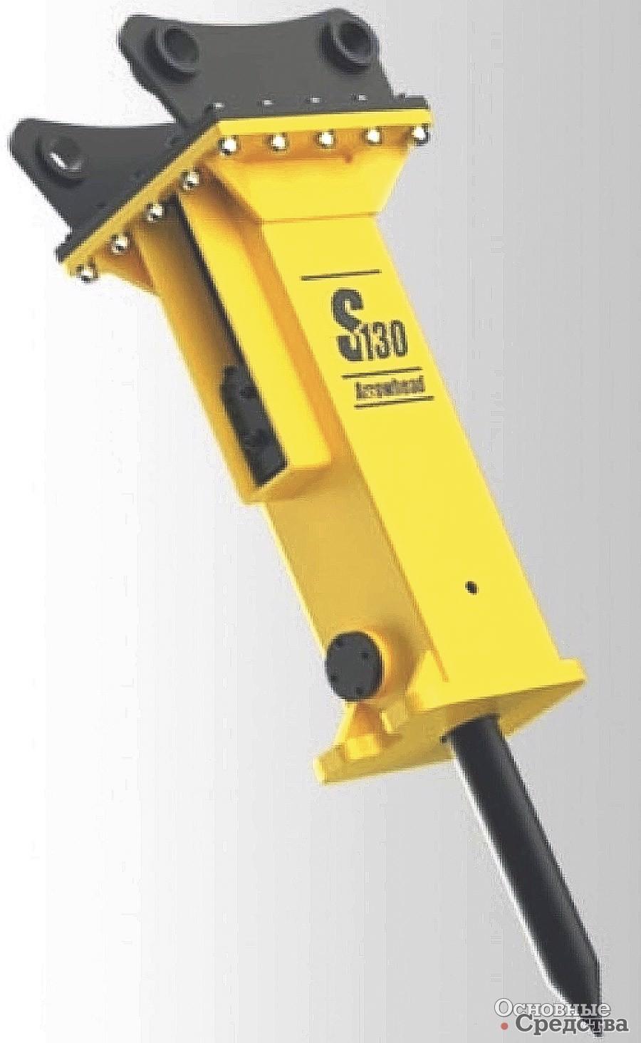Гидромолот Arrowhead S130 рассчитан на работу с экскаваторами массой 11–15 т. Молот обеспечивает частоту до 900 уд./мин, а максимальная энергия удара – 1800 Дж