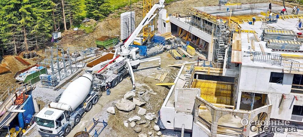 Перекачивание бетона бетон химический состав