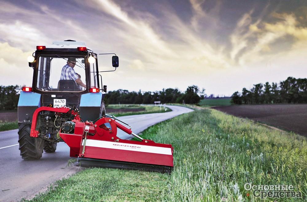 Косилки и кусторезы для ухода за придорожными полосами – Основные средства || Трактор с кусторезом