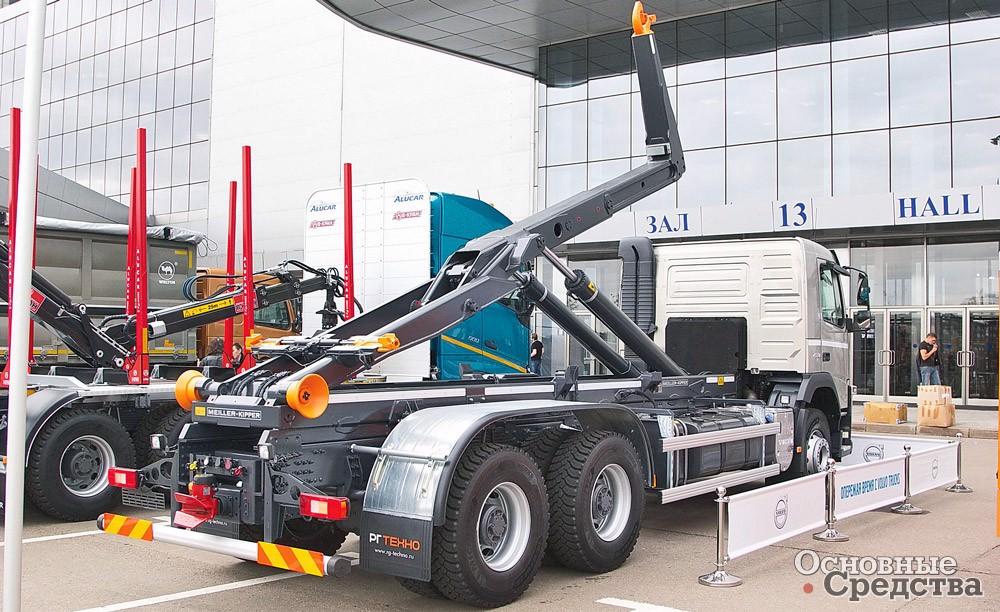 Крюковой мультилифт Meiller на шасси Volvo