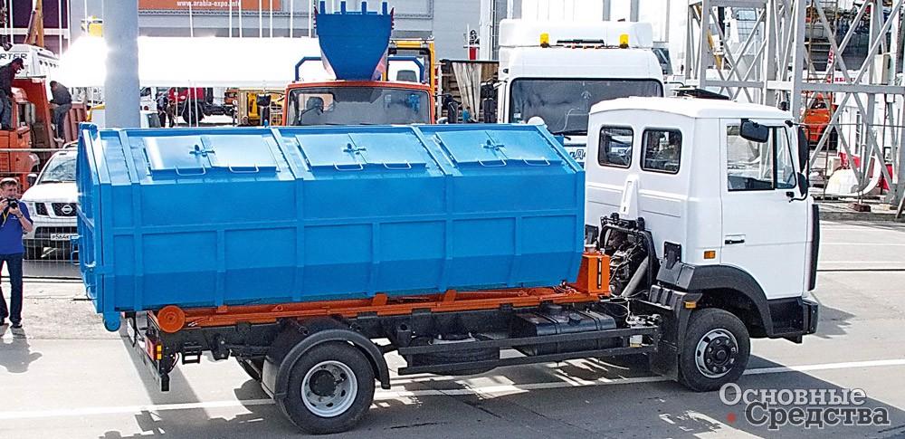 Закрытый кузов-мультилифт для сбора мусора (МЗОК)