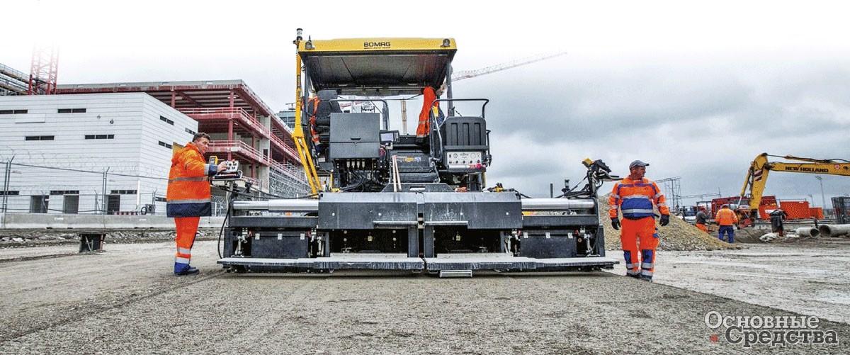 Bomag BF800C участвует в расширении аэропорта Мюнхена