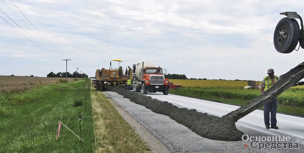Нанесение бетонного покрытия традиционно производилось раньше по технологии Portland Cement concrete или PCC