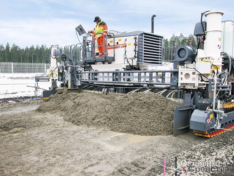 Конструкторы Wirtgen разработали специальные укладчики бетона со скользящими формами серии SP – это техника будущего