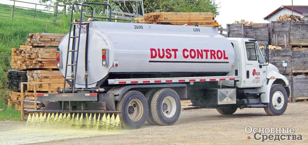 Поливальные машины используются для подавления пыли