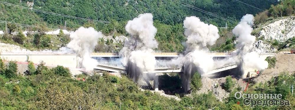 Огромное количество пыли образуется при разрушении сооружений