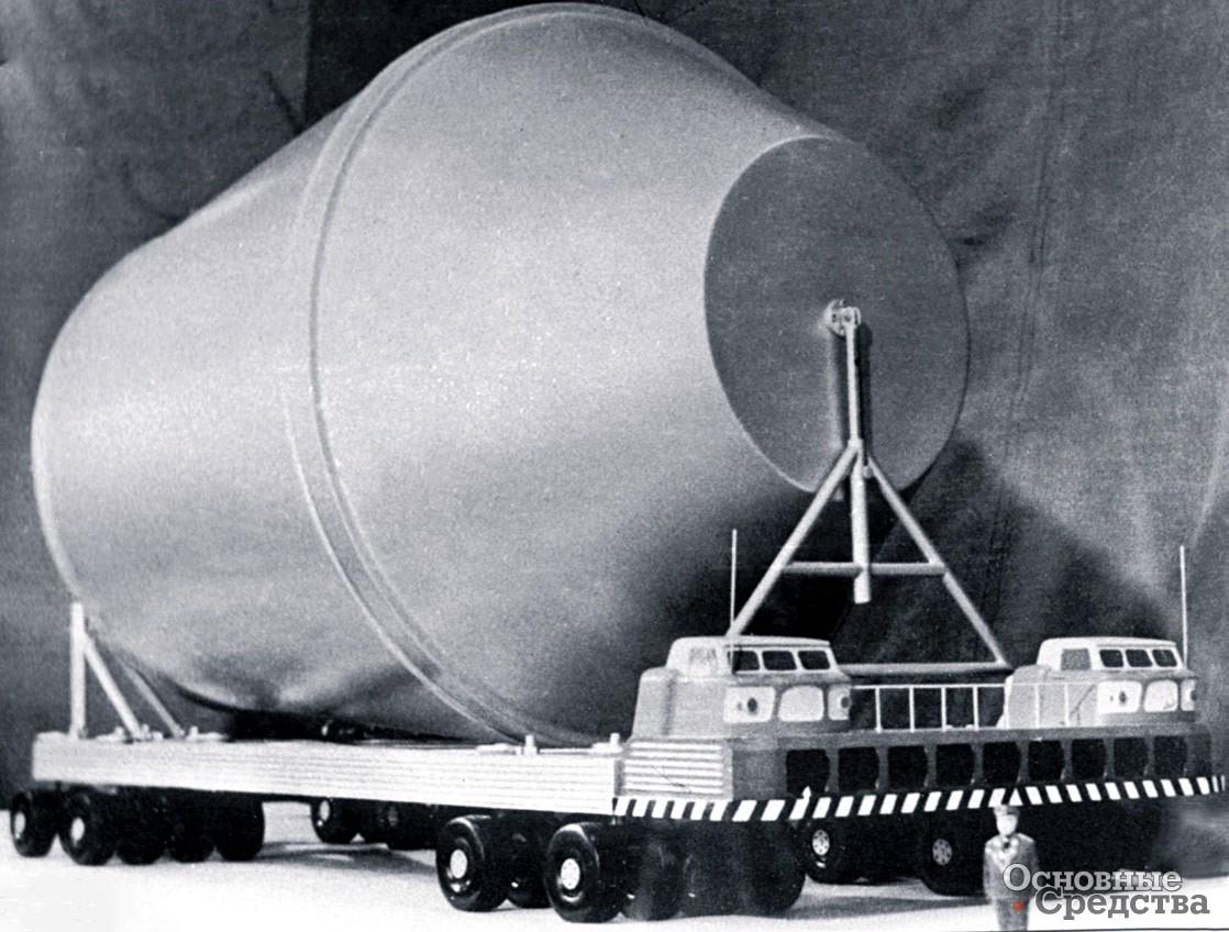 Транспортный агрегат ЗИЛ-135Ш грузоподъемностью 120 т