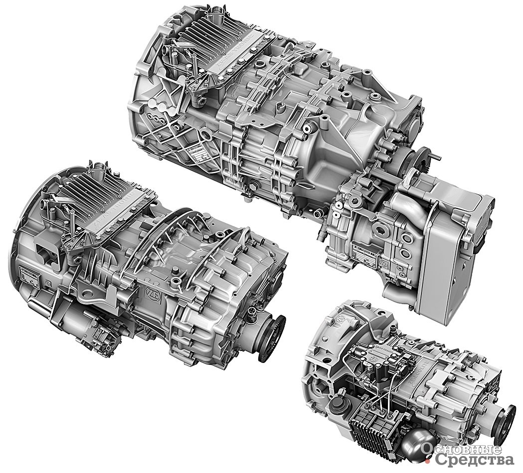 Семейство роботизированных КП ZF AS-Tronic для тяжелых, средних и легких грузовиков