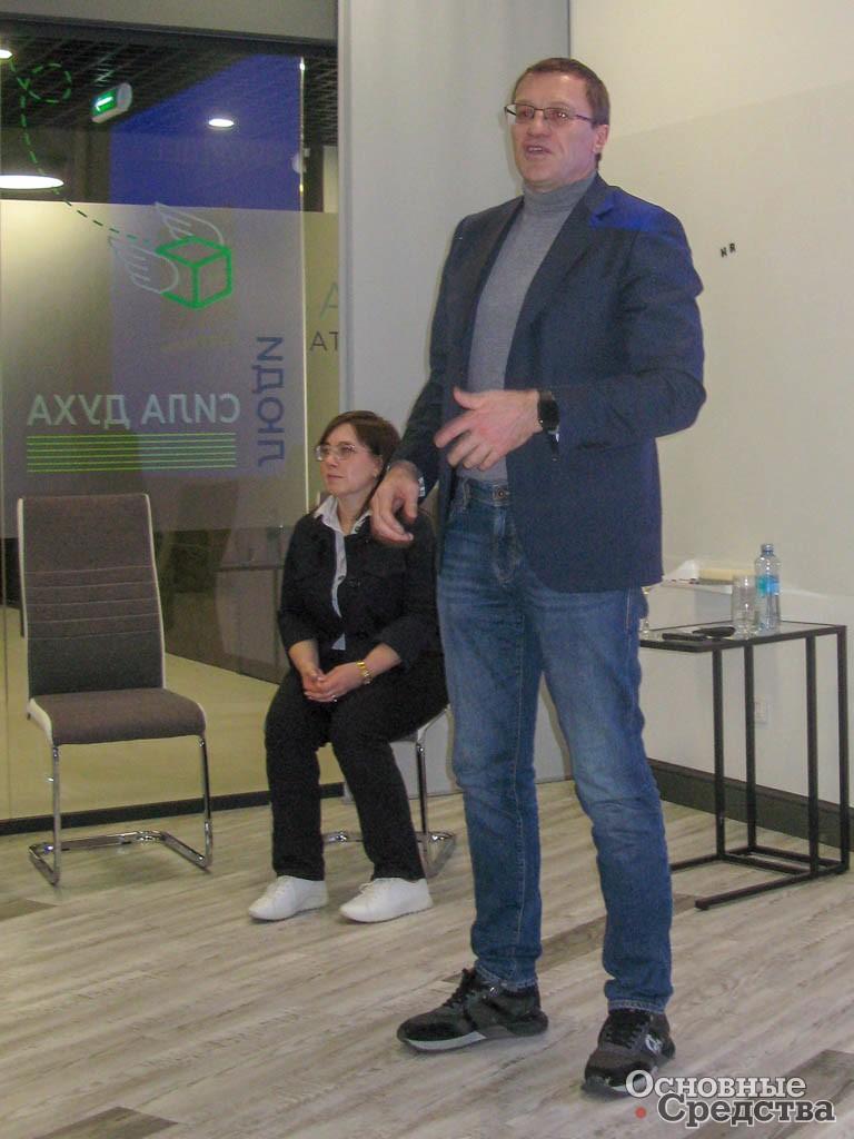 Гендиректор Л. Гольдорт на пресс-конференции