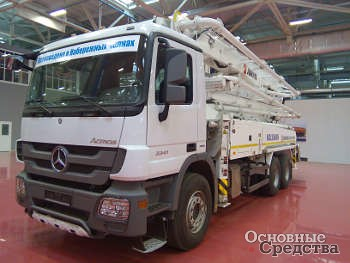 Автобетононасос,  Колуман JXZ 38-4.16HP,  Mercedes-Benz Actros 3341